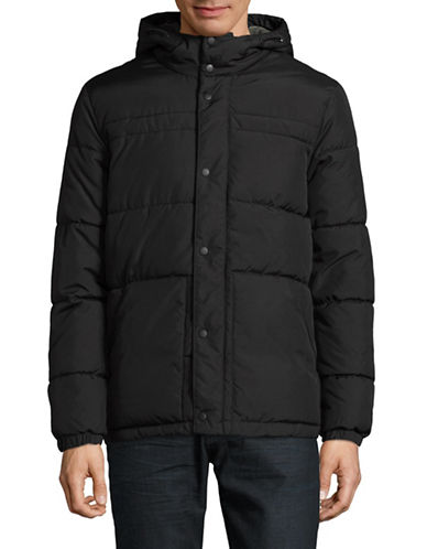 Jack & Jones Coroger Quilted Jacket-BLACK-X-Large