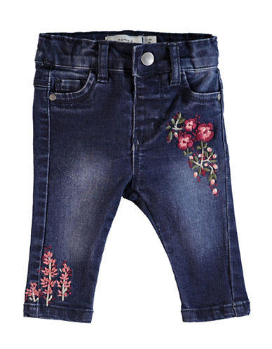 Name It Stretch Floral Jeans-BLUE-9 Months