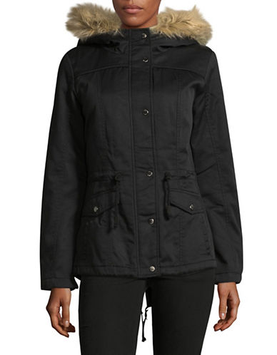 Only Kate Canvas Parka-BLACK-X-Small