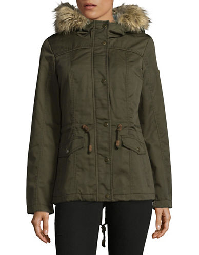 Only Kate Canvas Parka-GREEN-Medium