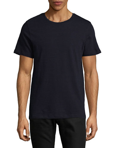 Jack And Jones Premium Classic Stripe T-Shirt-BLACK-Medium