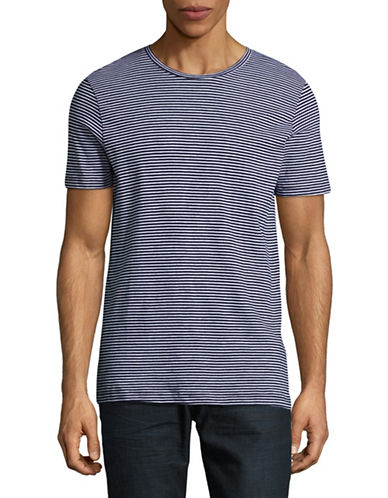 Jack And Jones Premium Classic Stripe Sport Shirt-BLUE-Small