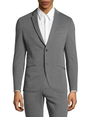 Jack And Jones Premium Slim Fit Suit Jacket-LIGHT GREY-54 Regular