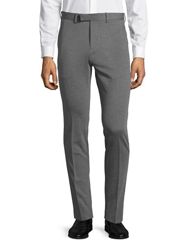 Jack And Jones Premium Pleated Dress Pants-LIGHT GREY-50 Regular