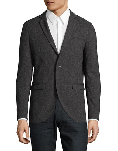 Jack And Jones Premium Twill Tweed Suit Jacket-GREY-54 Regular