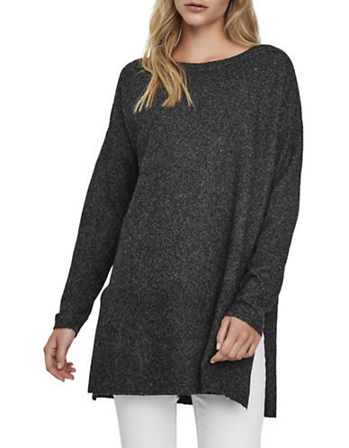 Vero Moda Brilliant Long Sweater-BLACK-Medium