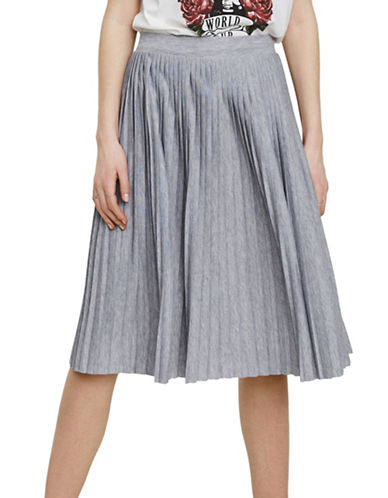 Vero Moda Simin Pleated Skirt-GREY-Large