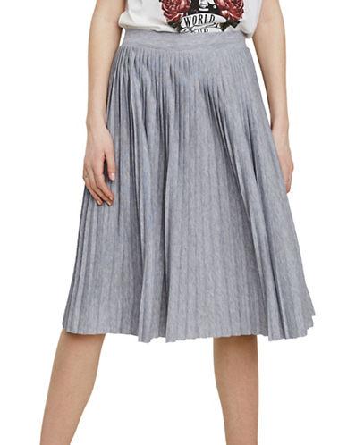 Vero Moda Simin Pleated Skirt-GREY-Small
