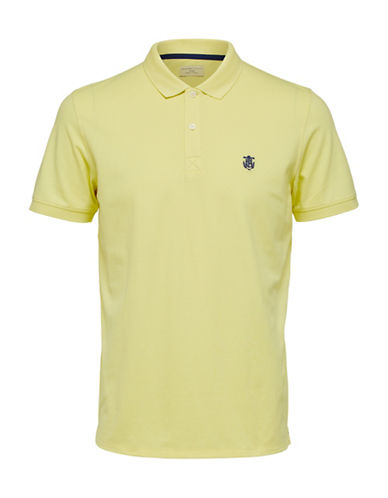 Selected Homme SHHARO Embroidered Polo-YELLOW-X-Large