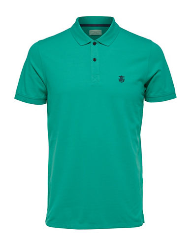 Selected Homme SHHARO Embroidered Polo-TEAL-X-Large