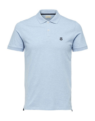 Selected Homme SHHARO Embroidered Polo-LIGHT BLUE-Small