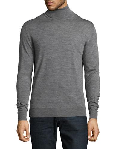 Jack And Jones Premium Merino Wool Turtleneck-GREY-X-Large