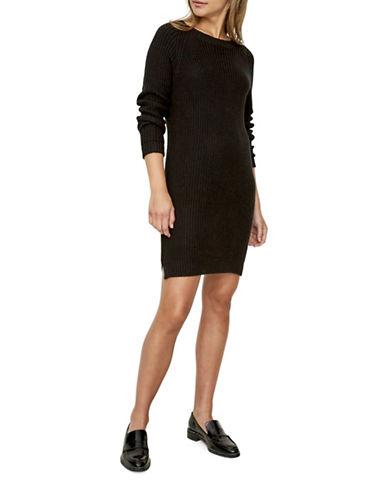 Noisy May Siesta Knit Dress-BLACK-X-Small