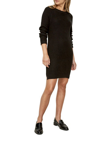 Noisy May Siesta Knit Dress-BLACK-Large