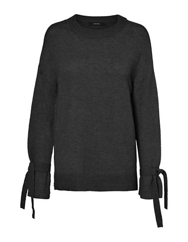 Vero Moda Cersei Tie-Sleeve Sweater-BLACK-Small