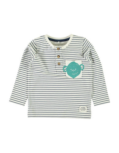Name It Striped Pocket Henley-BLUE-6