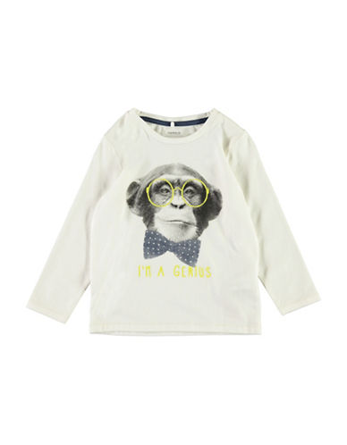 Name It Monkey Long-Sleeve Top-WHITE-5
