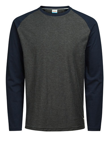 Jack & Jones Jornewstan Raglan Tee-GREY-Medium 89306478_GREY_Medium