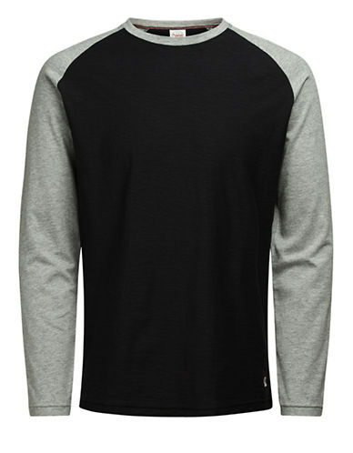 Jack & Jones Jornewstan Raglan Tee-BLACK-X-Large