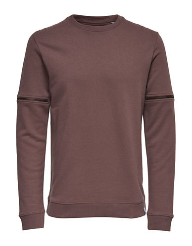 Only And Sons Cotton Sweatshirt-GREY-Small