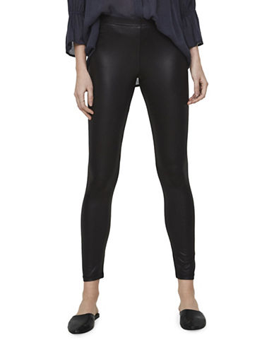 Vero Moda Shiny Leggings-BLACK-X-Small