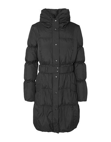 Vero Moda Tempura Crinkle Quilted Down Jacket-BLACK-X-Small 89687434_BLACK_X-Small
