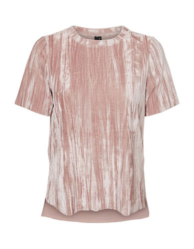 Vero Moda Maila Crushed Tee-PINK-X-Small 89342693_PINK_X-Small