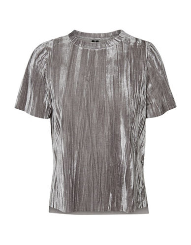 Vero Moda Maila Crushed Tee-GREY-X-Small