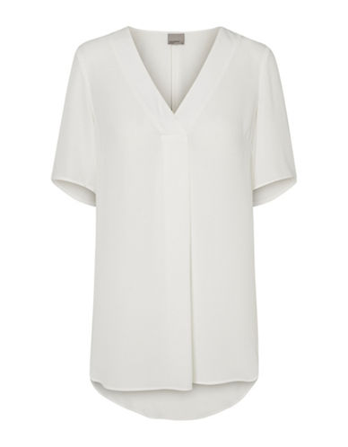 Vero Moda Lauren V-Neck Top-WHITE-Small 89342686_WHITE_Small