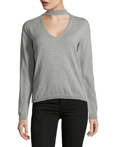 Noisy May Choker Pullover-GREY-Large