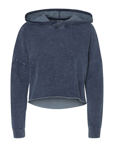 Noisy May Charlotte Cotton Hoodie-BLUE-X-Small 89659782_BLUE_X-Small
