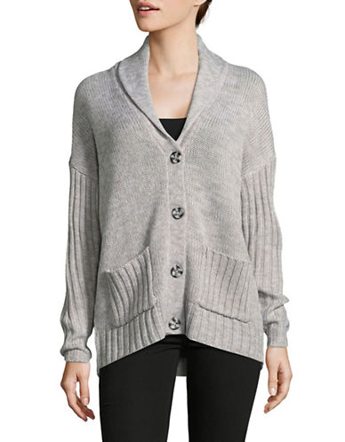 Noisy May Canon Cardigan-GREY-X-Small
