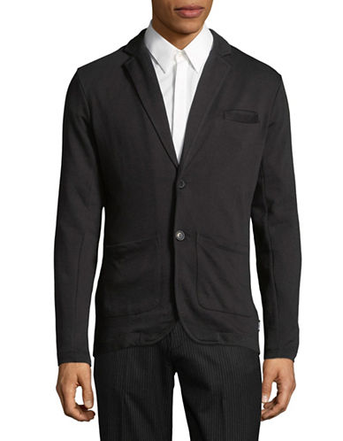 Only And Sons Cotton Jersey Blazer-BLACK-Medium