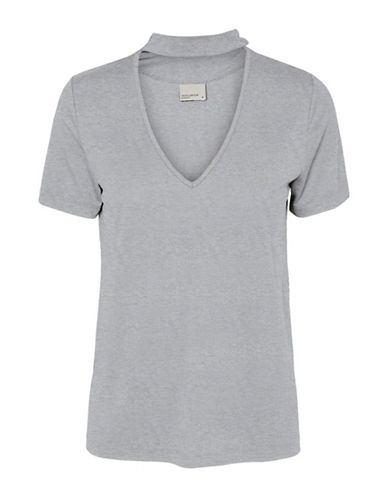Vero Moda Mak Choker Top-GREY-Large