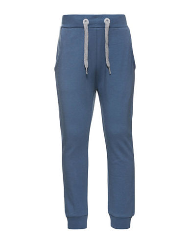 Name It Elasticized Jogger Pants-BLUE-4