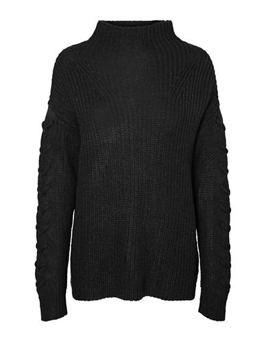 Vero Moda Funnelneck Sweater-BLACK-X-Small