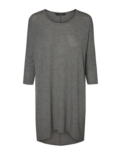 Vero Moda Honie Long Top-GREY-X-Small