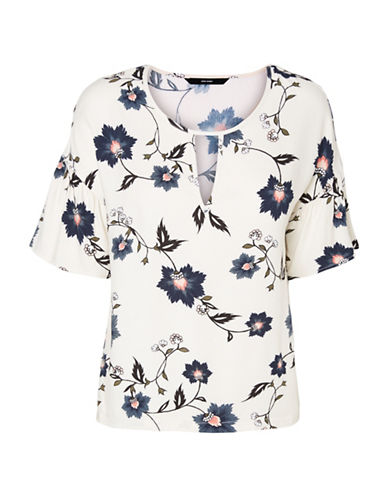 Vero Moda Nadia Blouse-WHITE MULTI-X-Small