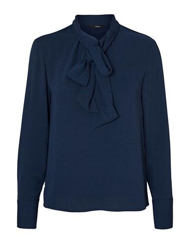 Vero Moda Adriana Bow Blouse-BLUE-Small