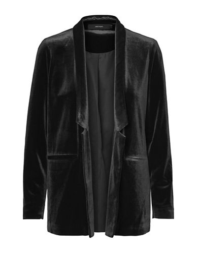 Vero Moda Agnes Velvet Jacket-BLACK-Small
