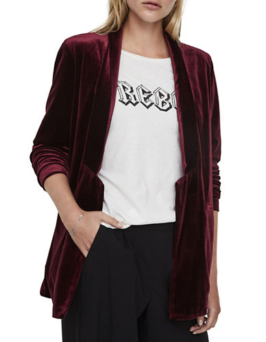 Vero Moda Agnes Velvet Jacket-PURPLE-Large