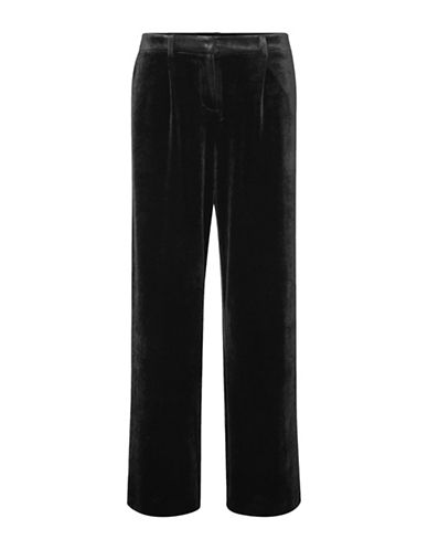 Vero Moda Agnes Velvet Pants-BLACK-Medium
