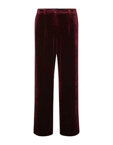Vero Moda Agnes Velvet Pants-PURPLE-X-Small
