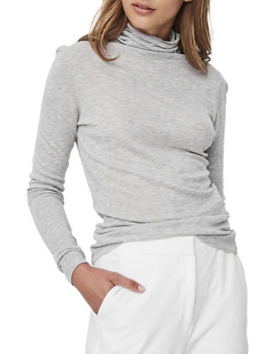 Vero Moda Macie Long-Sleeve Top-GREY-Small