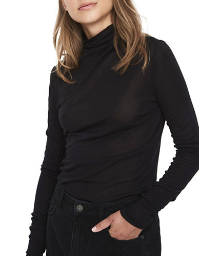 Vero Moda Macie Long-Sleeve Top-BLACK-Small