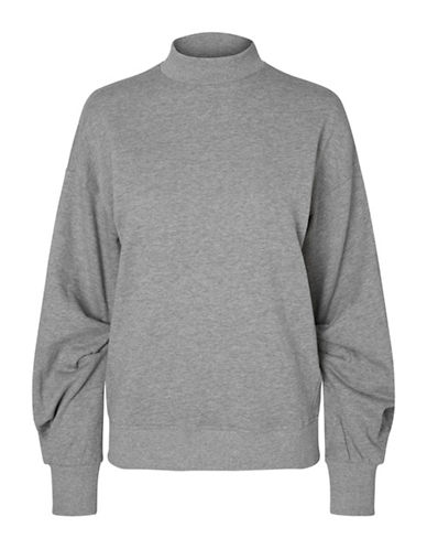 Vero Moda Maida Organic Cotton Sweater-GREY-Medium