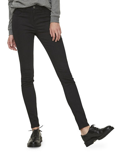 Noisy May Great Lucy Slim Jeans-BLACK-29X32