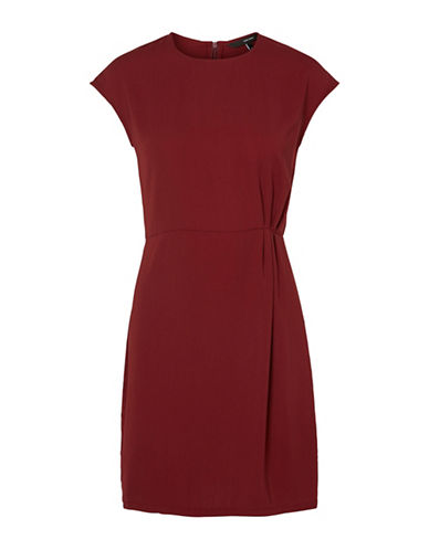 Vero Moda Nice Cap Sleeve Dress-ZINFANDEL-Small