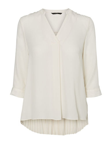 Vero Moda View Three-Quarter Top-WHITE-Medium