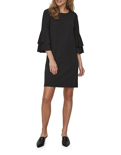 Vero Moda Viola Mini Dress-BLACK-X-Small